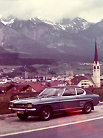 BNPS.co.uk (01202) 558833. <br /> Pic: AndrewLast/BNPS<br /> <br /> Pictured: The car pictured on a family holiday in the 1970s. <br /> <br /> Pensioner Fred Last has bought back his beloved Ford Capri more than 20 years after he sold it.<br /> <br /> Fred, 92, bought the Mark One Capri from new in 1971 and it was his pride and joy for almost three decades.<br /> <br /> He regularly used the vehicle for family holidays and day trips before selling it in 1999, once his children had grown up.
