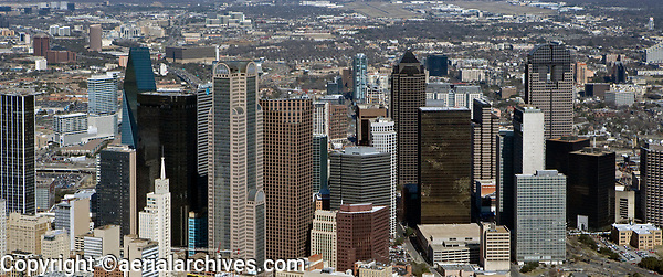 aerial photograph of the skyline of Dallas. Texas