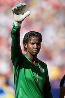 Briana Scurry during the team presentation. USA defeated Brazil 2-0 at Giants Stadium on Sunday, June 23, 2007.