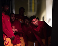 LAS VEGAS, NV - March 8, 2017: Washington Huskies vs. the USC Trojans in the opening round of the Pac-12 Men's Basketball Tournament.  Final Score: Washington Huskies 73, USC Trojans 78