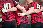 The Welsh team forms a scrum during the match Wales vs Samoa, Day 2 of the HSBC Singapore Rugby Sevens as part of the World Rugby HSBC World Rugby Sevens Series 2016-17 at the National Stadium on 16 April 2017 in Singapore. Photo by Victor Fraile / Power Sport Images