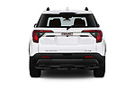 Straight rear view of a 2020 GMC Acadia AT4 5 Door SUV stock images