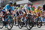 The neutralized start of Stage 14 of the 2019 Tour de France running 117.5km from Tarbes to Tourmalet Bareges, France. 20th July 2019.<br /> Picture: Colin Flockton | Cyclefile<br /> All photos usage must carry mandatory copyright credit (© Cyclefile | Colin Flockton)
