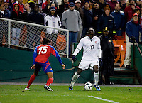 Jozy Altidore,Junior Diaz. The USMNT tied Costa Rica, 2-2, during the FIFA World Cup Qualifier at  RFK Stadium, in Washington, DC.   With the result, the USMNT qualified for the 2010 FIFA World Cup Finals in South Africa.