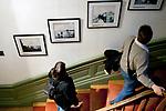 Visitors view photography on display at the Institut Lumiere, Lyon, France, 13 January 2012<br /> <br /> ***HINWEIS BEZUEGLICH DER ABBILDUNG VON KUNSTWERKEN. RECHTE DRITTER SIND VOM NUTZER ZU KLAEREN***