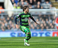 Alberto Paloschi of Swansea City during the Barclays Premier League match between Newcastle United and Swansea City played at St. James' Park, Newcastle upon Tyne, on the 16th April 2016