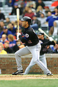 CHICAGO - CIRCA 2002:  Roberto Alomar #12 of the New York Mets bats during an MLB game at Wrigley Field in Chicago, Illinois. Alomar played for 17 seasons with 7 different teams was a 12-time All-Star and was inducted in the Baseball Hall of Fame in 2011. (David Durochik / SportPics) --Roberto Alomar