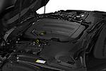 Car Stock 2021 Jaguar F-Type - 2 Door Convertible Engine  high angle detail view