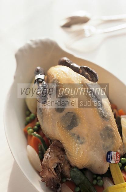 """Europe/France/Rhone-Alpes/69/Rhone/env de Lyon/Collonges -au-Mont-d'Or: Poularde de Bresse truffée recette de Paul Bocuse du Restaurant """"Paul Bocuse"""""""