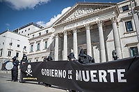 Protests for the Approval of the Law of Euthanasia in Front of the Congress of Deputies