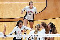 SAN ANTONIO, TX - OCTOBER 21, 2015: The University of North Carolina at Charlotte 49ers fall to the University of Texas at San Antonio Roadrunners 3-0 (25-19, 25-19, 25-19) at the UTSA Convocation Center. (Photo by Jeff Huehn)