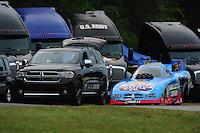 May 13, 2011; Commerce, GA, USA: NHRA funny car driver Brian Thiel during qualifying for the Southern Nationals at Atlanta Dragway. Mandatory Credit: Mark J. Rebilas-