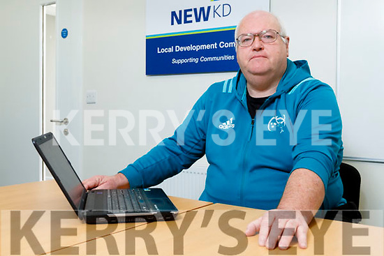 Dave Fitzgibbon (Community Champion for NEWKD) at the NEWKD Offices on William St, Listowel on Monday.