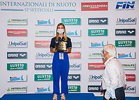 TROFEO MARIO SAINI<br /> PREMIAZIONI Nazioni<br /> Roma 13/08/2020 Foro Italico <br /> FIN 57 LVII Trofeo Sette Colli - Campionati Assoluti 2020 Internazionali d'Italia<br /> Photo Giorgio Scala/DBM/Insidefoto