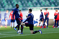 ST. GALLEN, SWITZERLAND - MAY 30: Matt Miazga #3 of the United States warming up before a game between Switzerland and USMNT at Kybunpark on May 30, 2021 in St. Gallen, Switzerland.