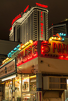 Boardwalk food vendor stand, Atlantic City, New Jersey, USA
