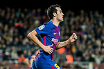 Sergio Busquets Burgos of FC Barcelona in action during the Copa Del Rey 2017-18 Round of 16 (2nd leg) match between FC Barcelona and RC Celta de Vigo at Camp Nou on 11 January 2018 in Barcelona, Spain. Photo by Vicens Gimenez / Power Sport Images