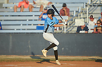 Ben Schneider (3) (Pine Lake Prep HS) of the Dry Pond Blue Sox at bat against the Mooresville Spinners at Moor Park on July 2, 2020 in Mooresville, NC.  The Spinners defeated the Blue Sox 9-4. (Brian Westerholt/Four Seam Images)