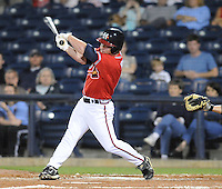 11 April 2008: Infielder Matt Young (6) of the Mississippi Braves, Class AA affiliate of the Atlanta Braves, in a game against the Mobile BayBears at Trustmark Park in Pearl, Miss. Photo by:  Tom Priddy/Four Seam Images