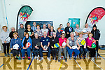 Attending the Pickleball new exercise craze that is taking the county by storm in John Mitchel's GAA Complex on Monday.