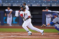 Peoria Javelinas outfielder Phillip Ervin (9) at bat during an Arizona Fall League game against the Mesa Solar Sox on October 21, 2015 at Peoria Stadium in Peoria, Arizona.  Peoria defeated Mesa 5-3.  (Mike Janes/Four Seam Images)