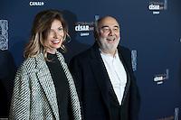 Patricia Campi, Gerard Jugnot ‡ la 42e CÈrÈmonie des CÈsars ‡ l'arrivÈe sur le tapis rouge de la salle Pleyel ‡ Paris le 24 fÈvrier 2017