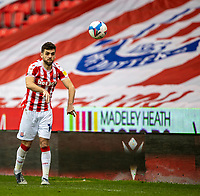 20th March 2021; Bet365 Stadium, Stoke, Staffordshire, England; English Football League Championship Football, Stoke City versus Derby County; Tommy Smith of Stoke City takes a throw in