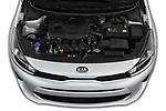 Car stock 2019 KIA Rio S 4 Door Sedan engine high angle detail view