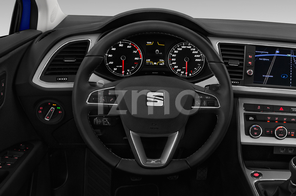 Car pictures of steering wheel view of a 2018 Seat Leon Xcellence 5 Door Hatchback