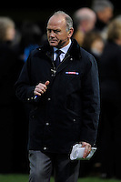 Sky Sports presenter Ieuan Evans during the LV= Cup second round match between Ospreys and Northampton Saints at Riverside Hardware Brewery Field, Bridgend (Photo by Rob Munro)