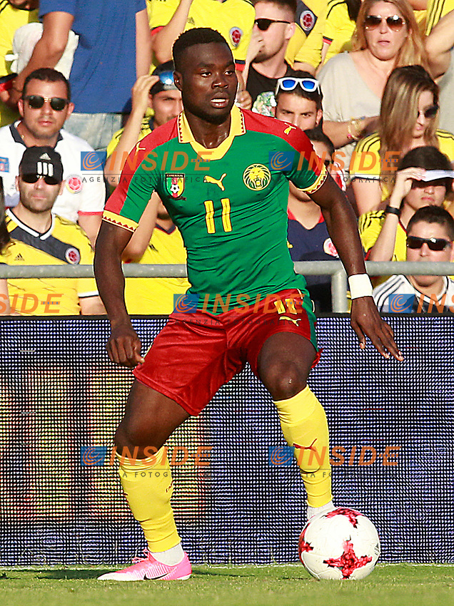 Cameroon's Olivier Boumal during international friendly match. June 13,2017.(ALTERPHOTOS/Acero/Insidefoto)<br /> Camerun - Colombia <br /> Foto Acero/Alterphotos/Insidefoto <br /> ITALY ONLY