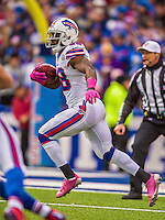 19 October 2014: Buffalo Bills running back C.J. Spiller rushes for yardage in the first quarter against the Minnesota Vikings at Ralph Wilson Stadium in Orchard Park, NY. The Bills defeated the Vikings 17-16 in a dramatic, last minute, comeback touchdown drive. Mandatory Credit: Ed Wolfstein Photo *** RAW (NEF) Image File Available ***