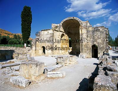 Griechenland, Kreta, Górtys - ehemalige Hauptstadt der roemischen Provinz Kreta: Titus-Basilika | Greece, Crete, Gortys - former roman capital of Province Crete: Titus Basilica
