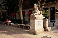 Spanien, Mallorca, am Passeig d'es Born in Palma de Mallorca