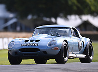 9th July 2021;  Goodwood  House, Chichester, England; Goodwood Festival of Speed; Day Two; Chris Keith-Lucas drives a Jaguar E-Type 'Egal' in the Goodwood Hill Climb