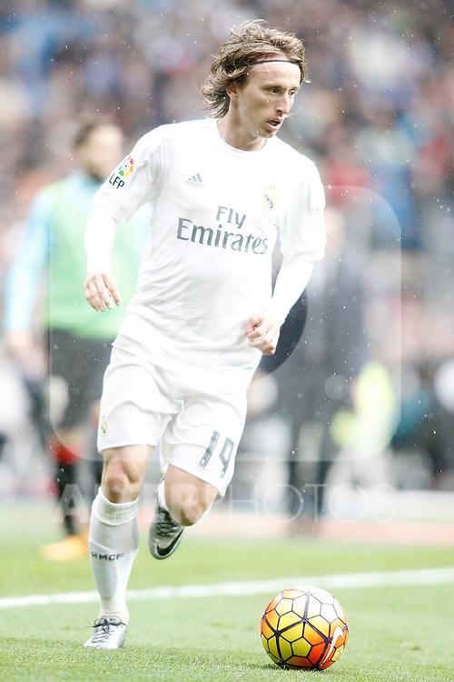 Real Madrid's Luka Modric during La Liga match. February 13,2016. (ALTERPHOTOS/Acero)
