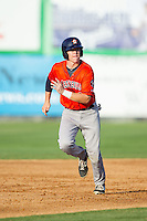 Trent Woodward (30) of the Greeneville Astros takes off for third base during the game against the Burlington Royals at Burlington Athletic Park on June 29, 2014 in Burlington, North Carolina.  The Royals defeated the Astros 11-0. (Brian Westerholt/Four Seam Images)
