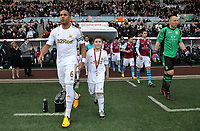 Tuesday 01 January 2013<br /> Pictured: Team players enter the stadium.<br /> Re: Barclays Premier League, Swansea City FC v Aston Villa at the Liberty Stadium, south Wales.