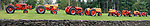 Panorama of Case tractor display.