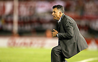 BUENOS AIRES - ARGENTINA - 10-12-2014: Juan Carlos Osorio, técnico  de Atletico Nacional de Colombia, durante partido de vuelta de la final, de la Copa Total Suramericana entre River Plate de Argentina y Atletico Nacional de Colombia en el Estadio Antonio Vespucio Liberti- Monumental de Nuñez, de la ciudad de Buenos Aires. / Juan Carlos Osorio, técnico  of Atletico Nacional de Colombia during a match for the second leg of the final, between River Plate of Argentina and Atletico Nacional for the Copa Total Suramericana in the Antonio Vespucio Liberti- Monumental de Nuñez, Stadium, in Buenos Aires city. Photo:  Photogamma / VizzorImage.