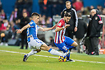 Yannick Ferreira Carrasco (r) of Atletico de Madrid competes for the ball with Unai Bustinza of Deportivo Leganes during their La Liga match between Atletico de Madrid and Deportivo Leganes at the Vicente Calderón Stadium on 04 February 2017 in Madrid, Spain. Photo by Diego Gonzalez Souto / Power Sport Images