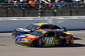 #18: Kyle Busch, Joe Gibbs Racing, Toyota Camry M&M's Halloween and #95: Regan Smith, Leavine Family Racing, Chevrolet Camaro Tommy Williams Drywall