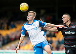 Motherwell v St Johnstone…05.05.18…  Fir Park    SPFL<br />Ally McCann and Tom Aldred<br />Picture by Graeme Hart. <br />Copyright Perthshire Picture Agency<br />Tel: 01738 623350  Mobile: 07990 594431