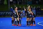 The Black Sticks huddle during the Sentinel Homes Trans Tasman Series hockey match between the New Zealand Black Sticks Women and the Australian Hockeyroos at Massey University Hockey Turf in Palmerston North, New Zealand on Tuesday, 1 June 2021. Photo: Dave Lintott / lintottphoto.co.nz
