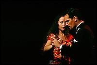 """Tango-Show der Gruppe """"Tiempo Nuevo"""" im exclusiven Restaurant Esquina Homero Manzi.<br /> Tango show with the group """"Tiempo Nuevo"""" at the exclusive restaurant Esquina Homero Manzi.<br /> 22.10.2000, Buenos Aires<br /> Copyright: Christian-Ditsch.de<br /> [Inhaltsveraendernde Manipulation des Fotos nur nach ausdruecklicher Genehmigung des Fotografen. Vereinbarungen ueber Abtretung von Persoenlichkeitsrechten/Model Release der abgebildeten Person/Personen liegen nicht vor. NO MODEL RELEASE! Nur fuer Redaktionelle Zwecke. Don't publish without copyright Christian-Ditsch.de, Veroeffentlichung nur mit Fotografennennung, sowie gegen Honorar, MwSt. und Beleg. Konto: I N G - D i B a, IBAN DE58500105175400192269, BIC INGDDEFFXXX, Kontakt: post@christian-ditsch.de<br /> Urhebervermerk wird gemaess Paragraph 13 UHG verlangt.]"""