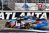 2017 NASCAR XFINITY Series - Rinnai 250<br /> Atlanta Motor Speedway, Hampton, GA USA<br /> Saturday 4 March 2017<br /> Kyle Busch, NOS Energy Drink Toyota Camry celebrates his win with a burnout<br /> World Copyright: Nigel Kinrade/LAT Images<br /> ref: Digital Image 17ATL1nk05564