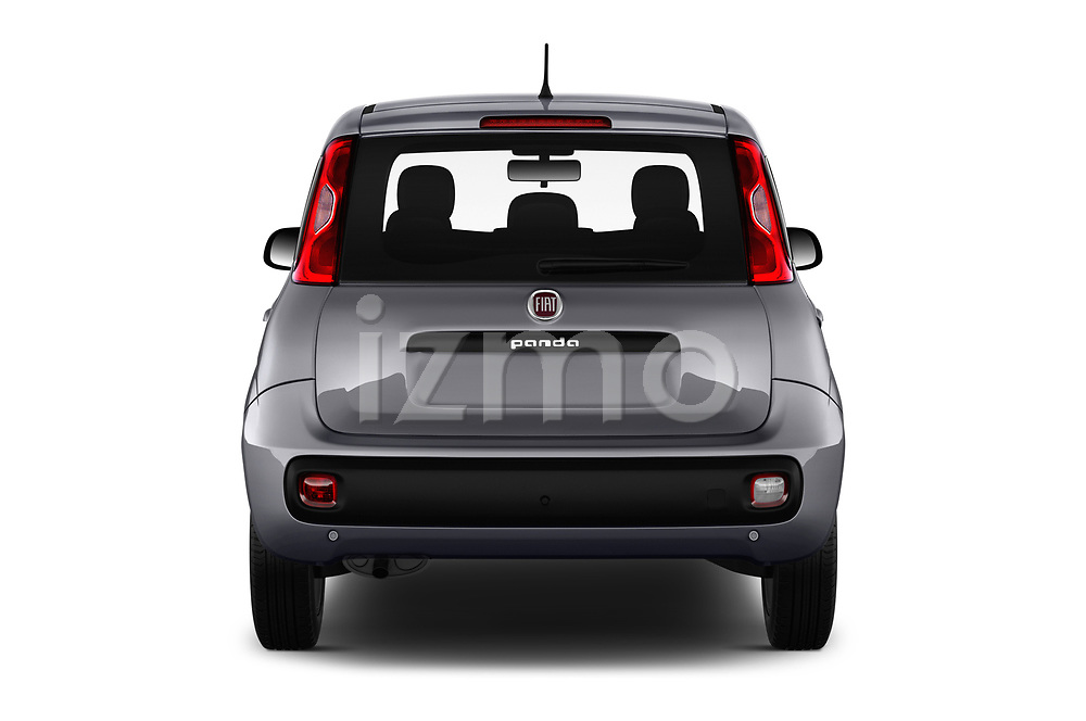 Straight rear view of 2017 Fiat Panda Lounge 5 Door Hatchback Rear View  stock images