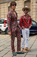 Milan,Italy - 20 th june 2021 - Kean Etro fashion show for Milano fashion week Men's collection 18-22 june 2021 - guest arriving at the show