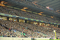 82,000 fans fill Twickenham for the Aviva Premiership match between Harlequins and Saracens at Twickenham on Tuesday 27 December 2011 (Photo by Rob Munro)