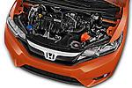 Car Stock 2016 Honda Jazz Elegance 5 Door Hatchback Engine  high angle detail view